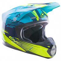 EVS - T5 Works шлем, синий/Hi-Viz желтый