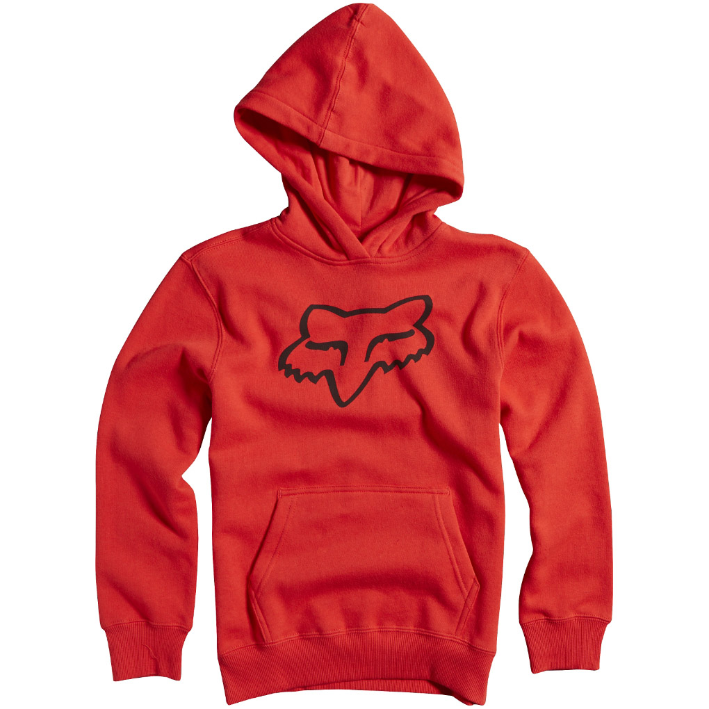 Fox - Youth Legacy Pullover Fleece Flame толстовка подростковая, красная