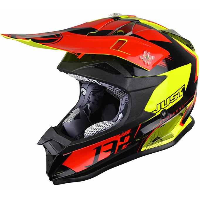 Just1 - J32 Pro Kick Black/Red/Yellow шлем, чёрно-красно-жёлтый